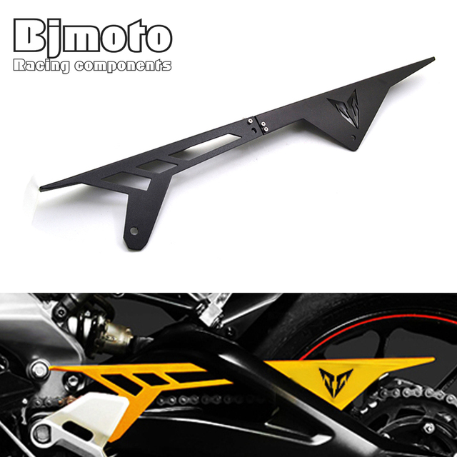 BJMOTO Motorcycle MT09 FZ09 CNC Aluminum Chain Guards Cover Protector For Yamaha MT-09 FZ-09 2014 2015 2016 2017 2018