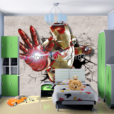 Large murals 3D custom wallpaper wall covering photo TV sofa House Ornamentation Children's kids room cartoon robot heroes man shinehome black white cartoon car frames photo wallpaper 3d for kids room roll livingroom background murals rolls wall paper