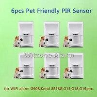 Wireless Pet Friendly Pir Motion Alarm Sensor Indoor Alarm Detector Pet Immune Passive Infrared Sensor For