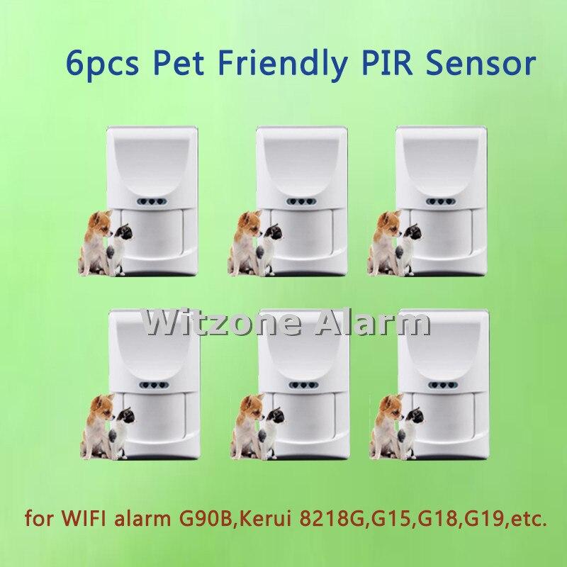 Wireless pet friendly pir motion alarm sensor, indoor alarm detector pet immune passive  ...