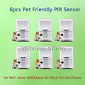 Wireless pet friendly pir motion alarm sensor, indoor alarm detector pet immune passive infrared sensor for G90B,G19,G18,M2FX