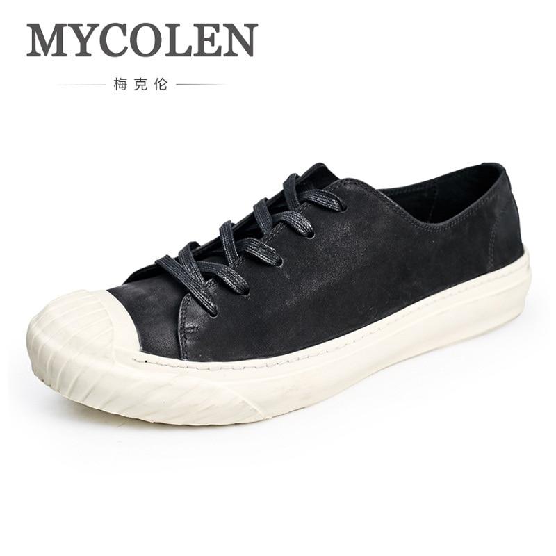 MYCOLEN 2018 Spring/Autumn Fashion Comfortable Casual Shoes Men Shoes High Quality Hot Sale Flats Shoes Men Tenis Masculinos стоимость