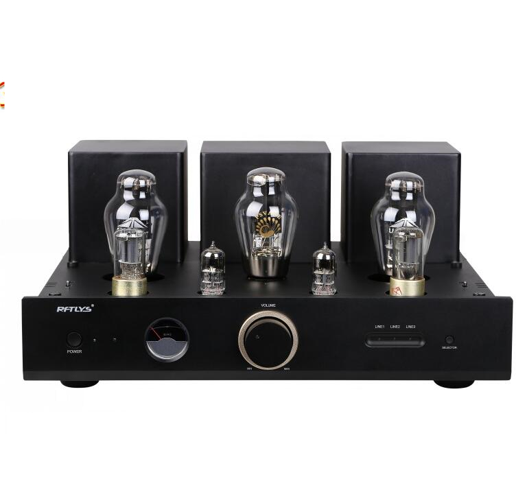 Douk Audio 300B Vacuum Tube Amplifier HiFi Single-Ended Class A Integrated Power Amp Black douk audio integrated vacuum tube amplifier class a hifi power amp usb dac lossless decoder 110v 240v
