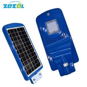 ZESOL LED street lamp 20W solar panels battery light with movement sensor for the garden light L
