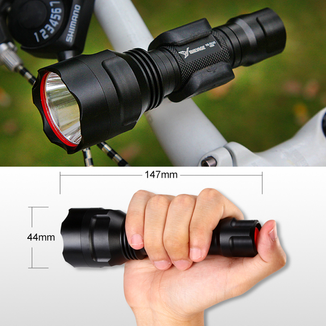YAGE YG-311C XP-E 500-1500LM Aluminum Self Defense Cycling CREE LED Flashlight Torch light for 18650 Rechargeable Battery Lamp
