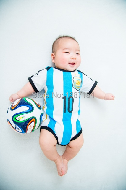 Argentina camisetas de futbol 2015 messi soccer jerseys kids baby shirts 10 messi newborn infants