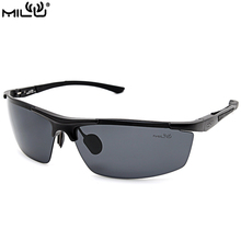 MILU Luxury Brand Logo Sunglasses For Men Aluminum Polarized Outdoor Sport Fishing Aviator Accessories oculos masculino S9039