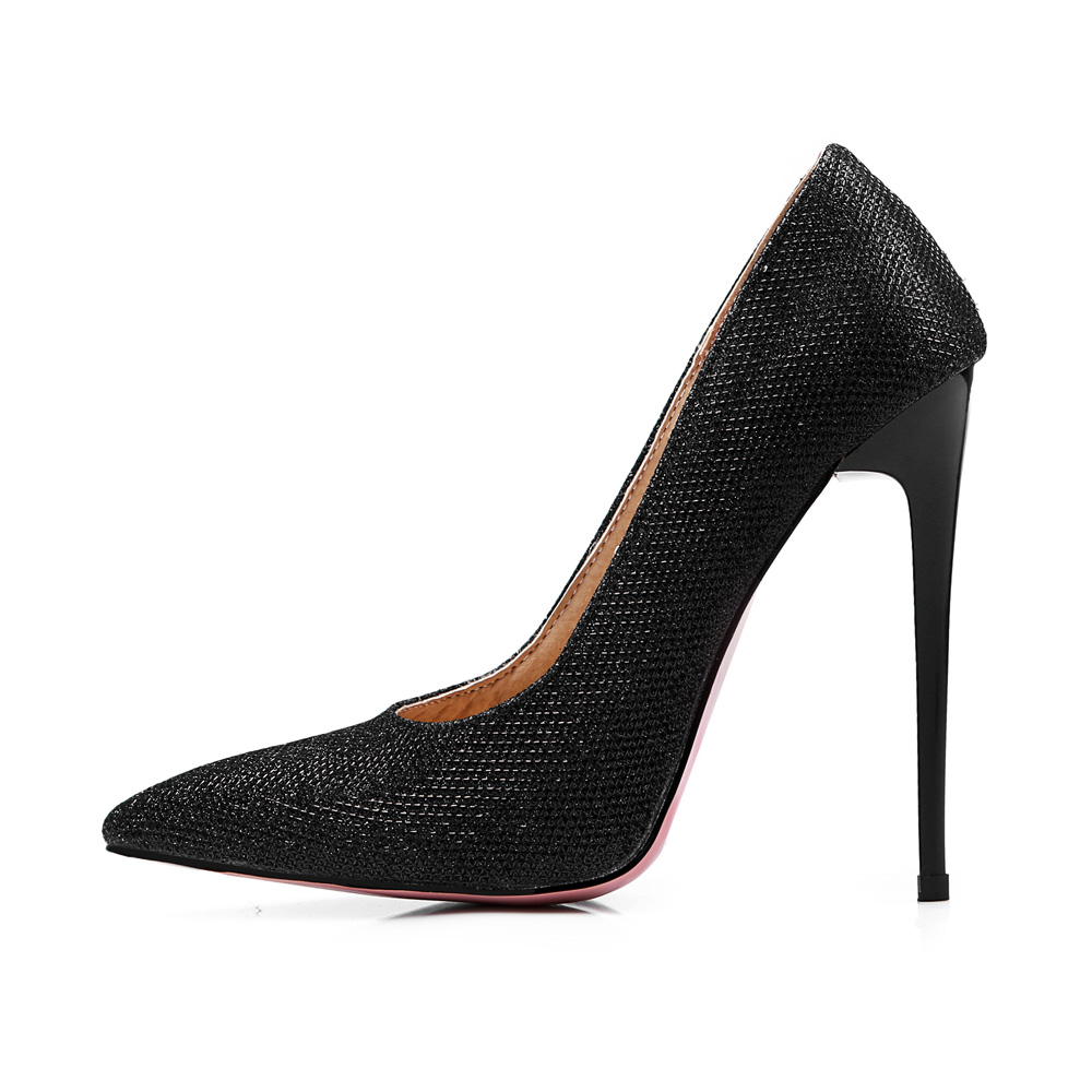 Quality Brand New Gold Silver Sexy Women Formal Pumps Super High Heels Office Lady  Wedding Shoes EM18 Plus Big Size 43 47 12 quality brand new sexy black red women glossy platform pumps purple high heels lady bridal shoes em10 plus big size 11 31 43 45