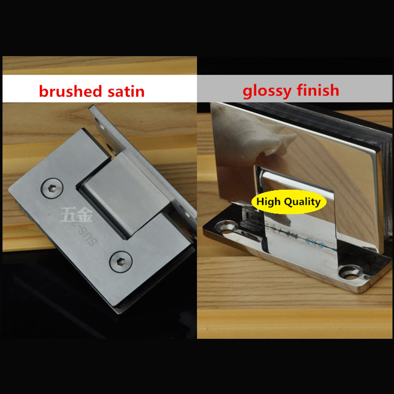 High Quality 90 Degrees open Stainless Steel 304 Wall Mount Glass Shower Door Hinge цена