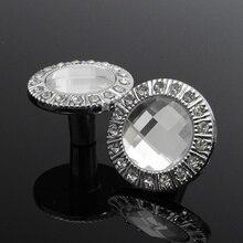 Neue 10 Stücke 30mm Diamant-form-kristallglas Cabinet Knob Schrank Schublade Ziehen Griff Küche Tür Kleiderschrank Möbel Hardware