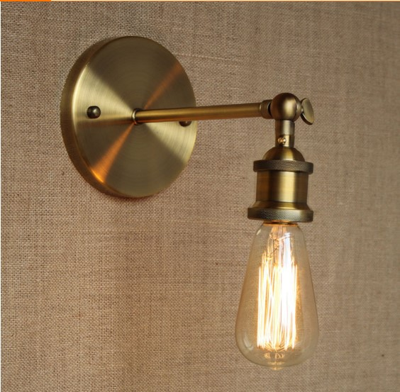 America Loft Industrial Vintage Wall Lamp Lights For Home Brass Retro Edison Wall Sconce Stair Light Arandela