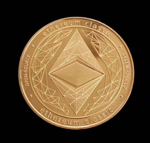 Gold/Silver-Plated Ethereum Coin Commemorative Coin Art Collection Gift Physical Metal Imitation Home Party Decoration