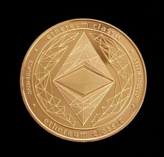 Gold/Silber-Überzogene Ethereum Münze Gedenkmünze Kunst Sammlung Geschenk Physikalische Metall Imitation Home Party Dekoration
