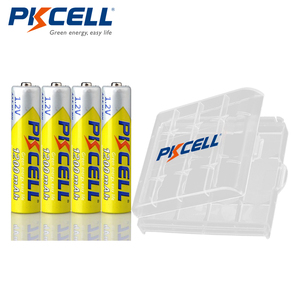 Image 1 - 4pcs PKCELL 1.2V 1200mAh AAA Battery NI MH aaa Rechargeable Batteries with 1PC Battery Box holder For Flashlight Toys Microphone