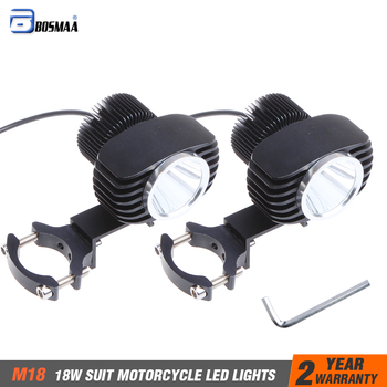 Bosmaa 18W 2700Lm Motorcycles LED Headlight Spotlight For Motor Car Driving Hunting Lamp Fog Light w/ Chip-XHP70 Chips 2sets