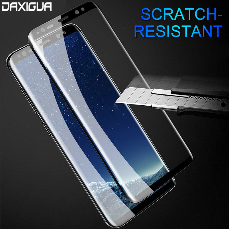 DAXIGUA Curved Full Tempered Glass Film For Samsung Galaxy S9 S8 Plus Screen Protector For Samsung S7 S6 Edge Note 8 Glass Film