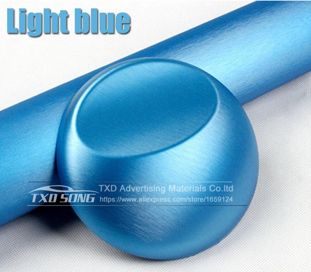 Хорошее качество, хромированная металлическая матовая алюминиевая виниловая металлическая виниловая пленка для отделки автомобиля, наклейка для стайлинга автомобиля, украшение из фольги - Название цвета: light blue