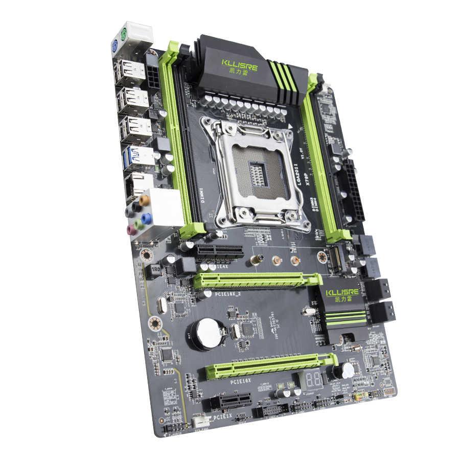 طقم لوحة أم Kllisre X79 مع ذاكرة Xeon E5 2689 4x8GB = 32GB 1600MHz DDR3 ECC REG ذاكرة ATX USB3.0 SATA3 PCI-E NVME M.2 SSD