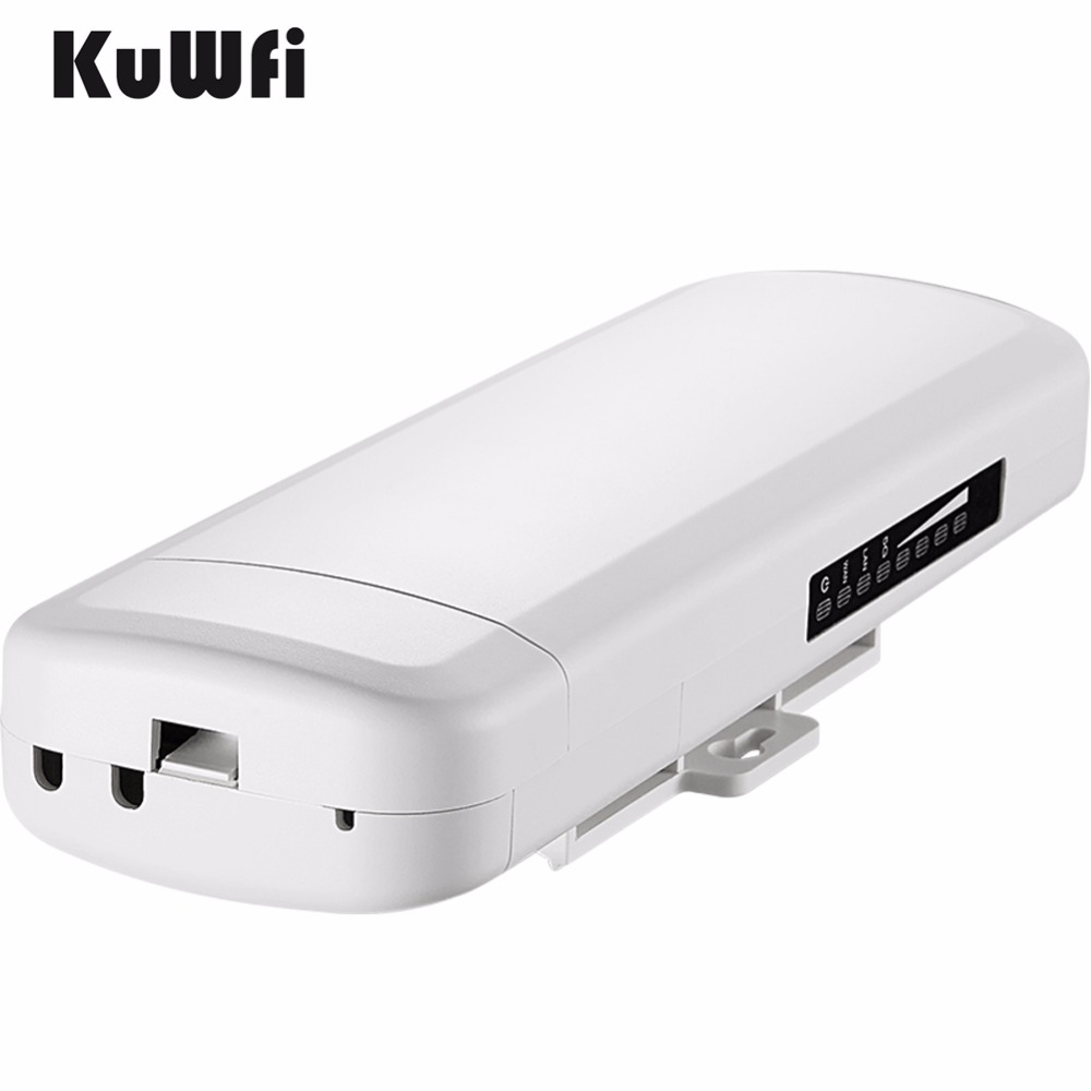 Image 2 - Kuwfi 3Km 2.4G 300Mbps Wifi CPE Router Wifi Repeater Wifi Extender Wireless Bridge Access Point For Wireless Camera LED Display-in Wireless Routers from Computer & Office