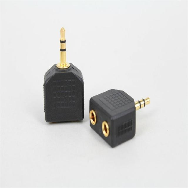 3.5mm 1 to 2 Double Earphone Connector Headphone Y Splitter Cable Cord Adapter Jack Plug