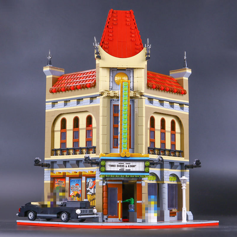 LEPIN 15006 City Street Palace Cinema Model Building Blocks set Bricks Compatible with 10232 Educational Gift Toys bricks 2016 new lepin 15006 2354pcs creator palace cinema model building blocks set bricks toys compatible 10232 brickgift