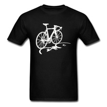 ZannoX Naked Mountain Bike Cotton T-Shirt Biker Race Sketch Print Street Tee Shirts Men Stay Wild Good Quality Sweatshirt Tshirt