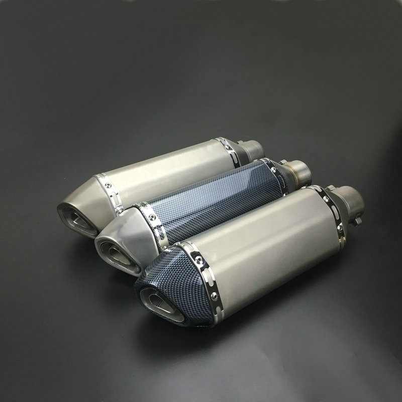 Universal Motorcycle Exhaust Pipe Muffler Akrapovic Motorbike Exhaust Pipe Titanium Exhaust Modified Exhaust Pipe 51mm