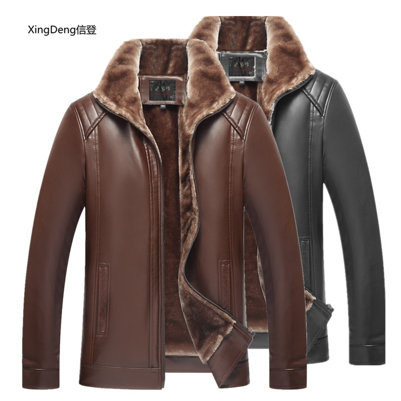 Methodical Xingdeng 2018 New Pu Leather Men Waterproof Jacketsbrand Loose Casual Top Overcoat Business Zipper Winter Male Clothes Plus 4xl Jackets