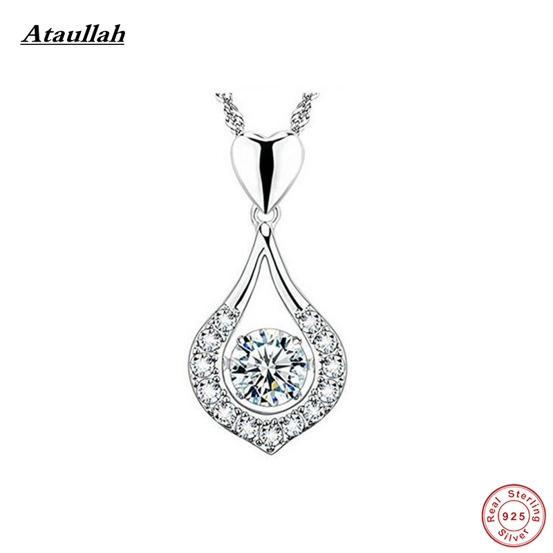 Ataullah Natural 925 Sterling Silver Water Drop Women Pendants Fashion-Jewelry Necklaces & Pendants Silver 925 Jewelry SWN004-F