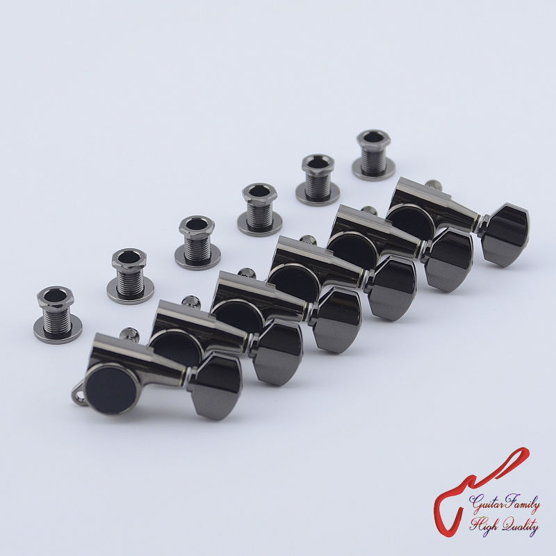 Original Genuine 6 In-line GOTOH SG381-07  Guitar Machine Heads Tuners  ( Cosmo Black ) MADE IN JAPAN new free shipping wholesale 3r3l wj45 vintage tuners machine heads sg es wj 45