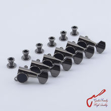 Original Genuine 6 In-line GOTOH SG381-07  Guitar Machine Heads Tuners  ( Cosmo Black ) MADE IN JAPAN