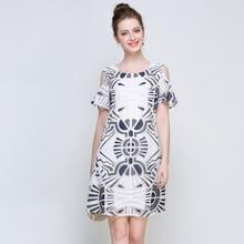 5xl woman summer dress plus size2017 new fashion brand knee length short sleeve brief cute work party dresses 4xl summer female