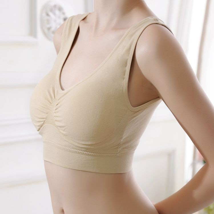 New Fashion Double Layers Women Comfortable Seamless Adjusting Bra Solid Leisure Cotton Boob Tube Top Wireless Bra 4