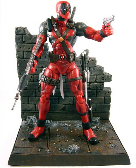 NEW Hot 23cm Super hero X-Men Deadpool action figure toys collection mobile toy doll Christmas gift with box new hot 11cm one piece vinsmoke reiju sanji yonji niji action figure toys christmas gift toy doll with box