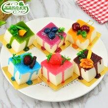 Gold trays cake fake fruit model square decoration wedding props