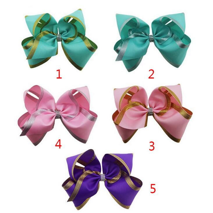 """50PCS 13CM 5/"""" Big High Quality Boutique Glitter Synthetic Leather Hair Bows"""