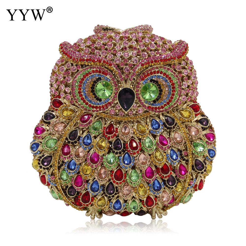 Mode Mini diamants sac de soirée strass embrayage femmes Bolsos Mujer Animal luxe bijoux sacs à bandoulière pour femmes 2018 - 3