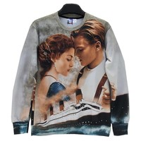 Men/women 3d sweatshirts Printed Film Titanic Jack Rose casual hoodies men Hoody Love Story W158