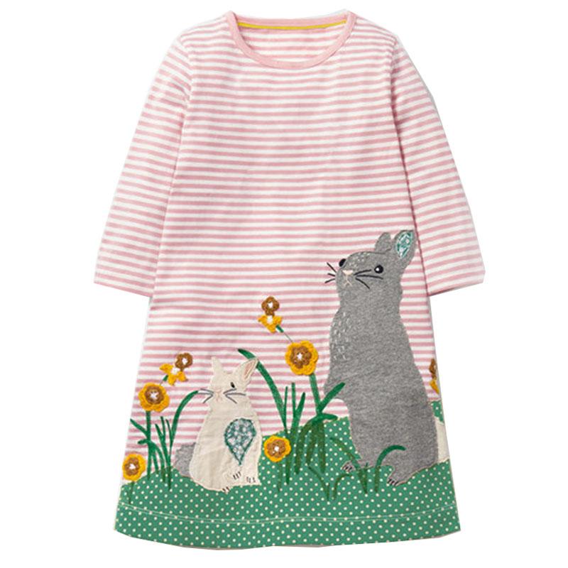 kidsalon платье с длинными рукавами обувь для девочек одежда 2017 бренд детская зимняя платья для женщин для обувь для девочек животных аппликация платье принцессы дети джерси