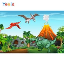 цены на Cartoon Animals Safari Zoo Forest Photography Backdrop Children Birthday Party Volcano Photographic Background For Photo Studio  в интернет-магазинах