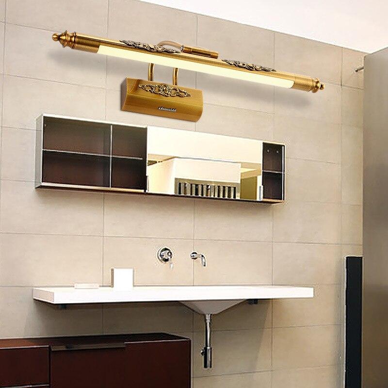 Europese Badkamer Spiegel Licht Amerikaanse Koper Led Spiegel Voor ...