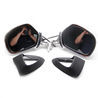 Hot sell Motorcycle Left Right Rear view Mirrors W/ LED Turn Signals For Honda Goldwing GL1800 01 12 2001 2012