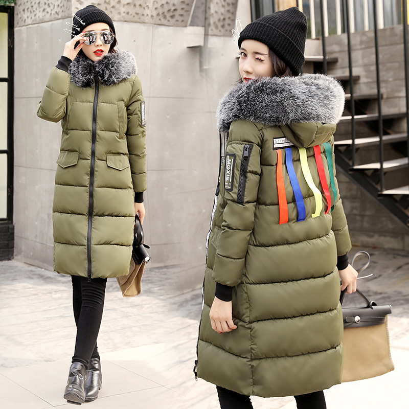 Long Winter Women's Jacket Coat Thickening Warm Fur Fashion Hooded Coat Women Cotton Parka Plus Size Slim Outwear Y464 fashion 2017 women winter jacket warm fur hooded parkas female long casual cotton padded thickening winter coat outwear cm1412