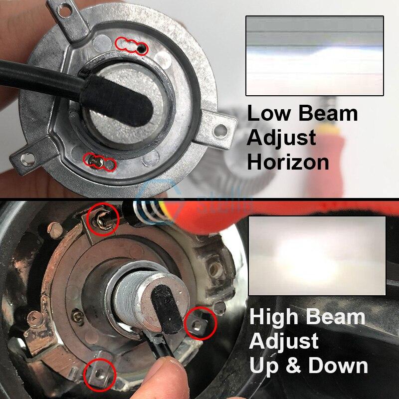 2 pièces H4 led salut-lo mini projecteur lentille phare pour la voiture faisceau clair motif 12 V 5500 k pas astigmate problème garantie à vie - 5
