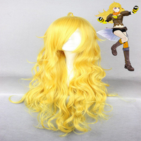 RWBY Cosplay Wigs Yang Xiao Long Cosplay Wigs Heat Resistant Synthetic Anime Cosplay Wig Halloween Carnival Party Cosplay Wigs