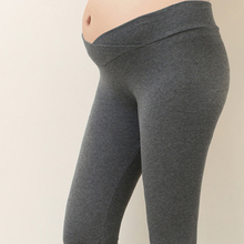 Autumn Maternity Leggings Women Low Waist Pregnancy Belly Pants For Pregnant Women Maternity Trousers Clothes Women Leggings cheap Bigsweety CN(Origin) Natural Color 724851 Tights Knitted Polyester Cotton Solid Elastic Waist