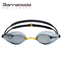 Barracuda Swimming Goggles LIQUID SURGE-Mirror Lenses Silicone Gaskets Anti-fog UV protection for Adults Men Women #73410