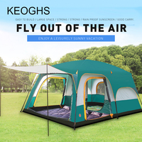 high quality outdoor camping 4 season tent outing two bedroom tent big space 6 12 people camping tent