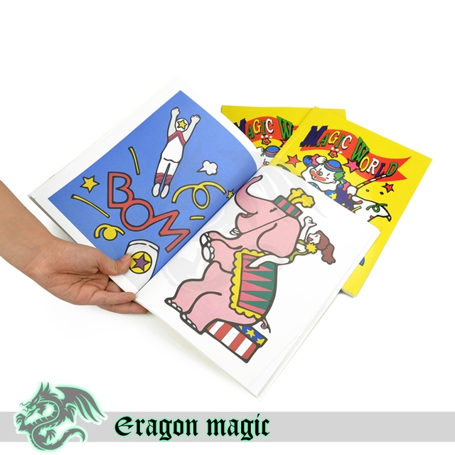 Cartoon Book Magic Tricks Free Shipping Magia Trick Toys Close up Fun Magie