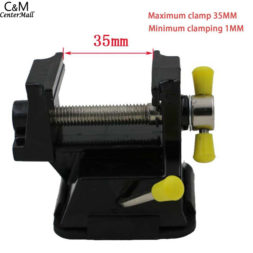 Universal Mini Bench Vise Aluminium Alloy 30mm Table Screw Vise Bench Clamp Screw Vise for DIY Craft Mold Fixed Repair Tool universal aluminum alloy table flat bench vise drill press vise small vise for woodworking diy tool milling machine